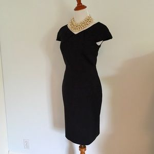 Club Monaco Black Cap Sleeve Hilary Dress